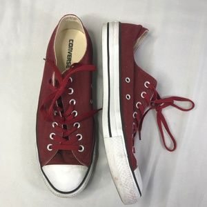 Converse All Star Chuck Taylor Maroon White Sz 11